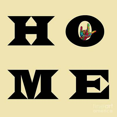 Language Painting - I Love You Home by Eloise Schneider