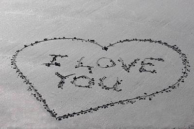 Photograph - I Love You by Jewels Blake Hamrick
