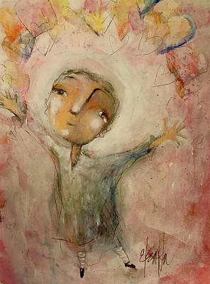 Painting - I Love You This Much by Eleatta Diver