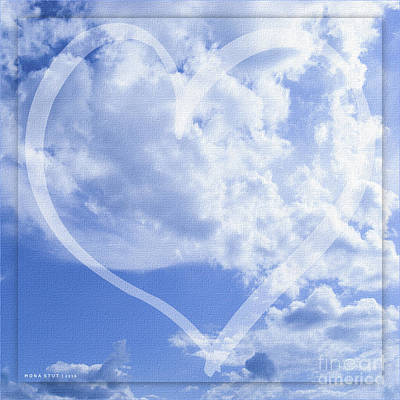 I Love You To The Clouds And Back Art Print by Mona Stut