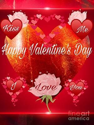 Digital Art - I Love You Valentine  by Gayle Price Thomas