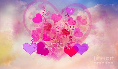 I Love You..happy Valentines Day Art Print by Sherri Of Palm Springs
