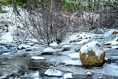 Photograph - Water, Snow And Ice by Maria Coulson