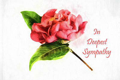 Photograph - In Deepest Sympathy Camellia Card by Kay Brewer