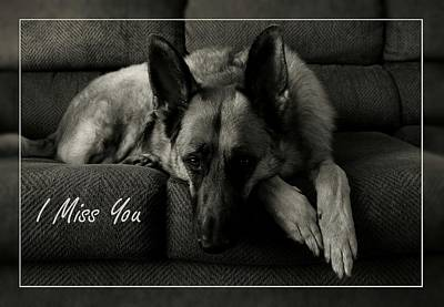 Photograph - I Miss You Card by Angie Tirado