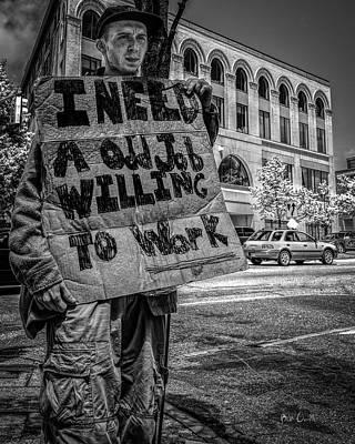 Photograph - I Need A Job by Bob Orsillo
