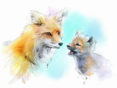 Fox Kit Digital Art - I Never Think Of The Future by Richard Okun