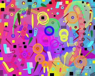 Playful Digital Art - I Once Was Happy by Silvia Ganora