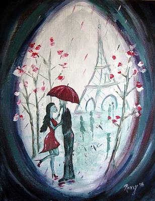 Red Umbrella Painting - I Only Have Eyes For You. by Roxy Rich