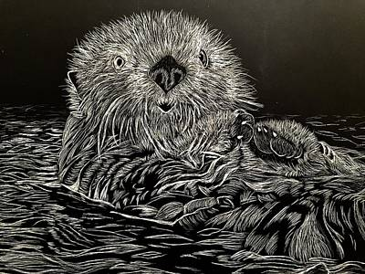 Mixed Media - I Otter Be Yours by Brenda Brown