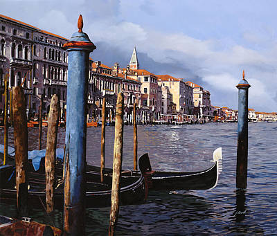 Venice Wall Art - Painting - I Pali Blu by Guido Borelli