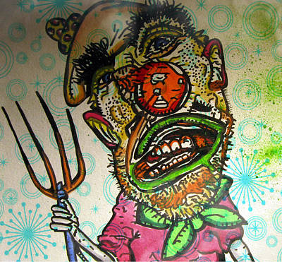 Creepy Drawing - I Pick My Nose by Jeff Piccolella