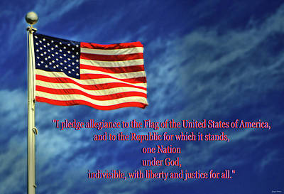 Photograph - I Pledge Allegiance To The Flag 005 by George Bostian