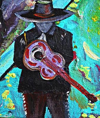 Gypsy Band Painting - I Pray Guitar by Michael Braun