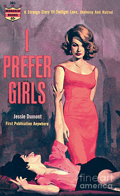 Print featuring the painting I Prefer Girls by Robert Maguire