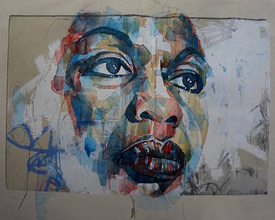 Portrait Mixed Media - I Put A Spell On You - Nina Simone  by Paul Lovering