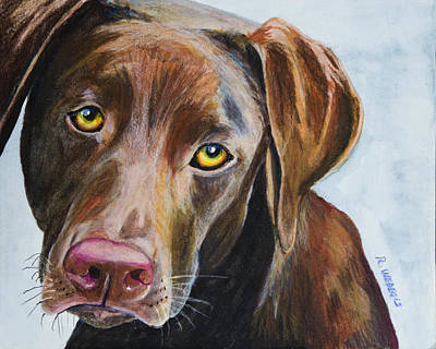 Mixed Labrador Retriever Painting - I Really Rather Be Playing by Roger Wedegis