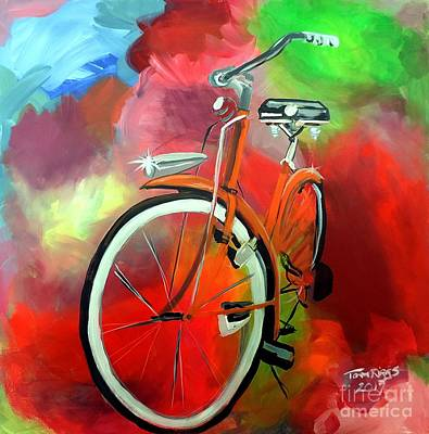 Painting - I Ride My Bike by Tom Riggs
