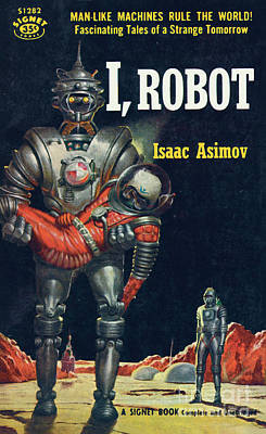 Print featuring the painting I, Robot by Robert Schulz