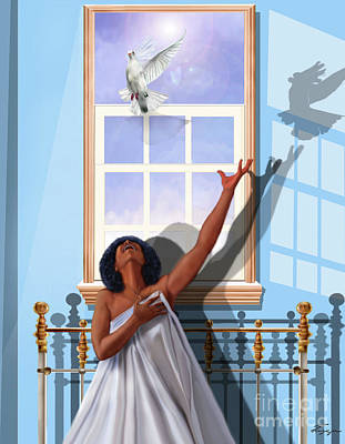 Painting - I Saw The Holy Spirit Descending Like A Dove by Reggie Duffie
