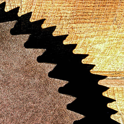 Circular Saw Blade Photograph - I Saw The Light by Wes Iversen