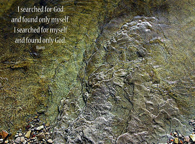 Photograph - I Searched For God by Rhonda McDougall