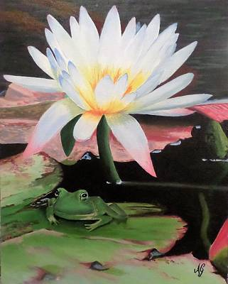 Painting - I See A Little Frog by Anne Gardner