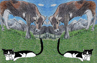 I See Double Art Print by Monica Engeler
