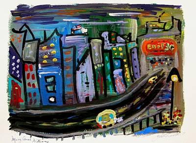 Childlike Drawing - I See My Destination by Mary Carol Williams