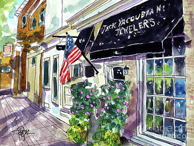 Franklin Tennessee Painting - I See Shiney Things by Tim Ross