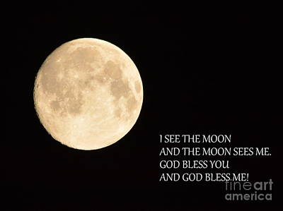 I See The Moon Art Print by Gordon  Allen