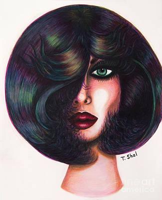 Drawing -  I See You 3 by Tara Shalton