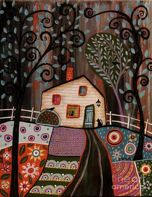 Art Quilt Painting - I See You by Karla Gerard