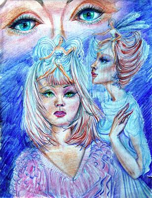Girl Drawing - I See You  by Yelena Rubin