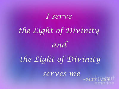 Photograph - I Serve The Light Of Divinity by Sybil Staples