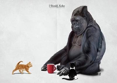 Digital Art - I Should, Koko by Rob Snow