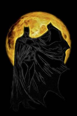 Digital Art - I Sing The Dark Knight Electric by John Haldane