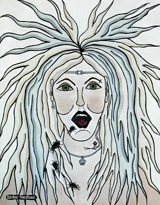 Religious Art Painting - I Speak Of Pestilence by Deidre Firestone