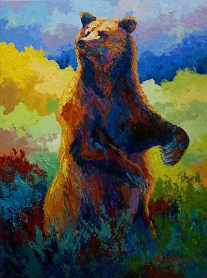 Painting - I Spy - Grizzly Bear by Marion Rose