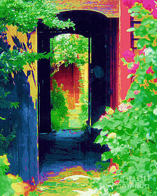 Painting - I Stand At The Door And Knock by Diane E Berry