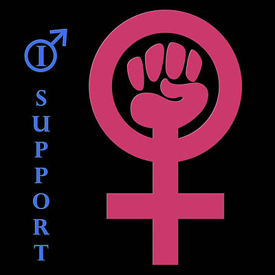 Digital Art - I Support Womens Rights by Wally Hampton