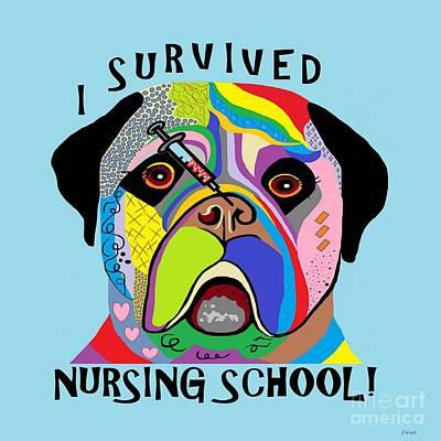 Graduation Painting - I Survived Nursing School by Eloise Schneider