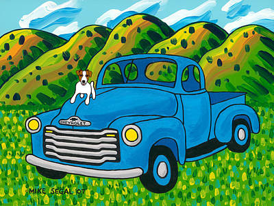 Painting - I Think I'm A Hood Ornament by Mike Segal