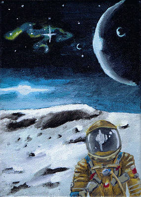 Outer Space Painting - I Think I'm Lost by Chad Acuff
