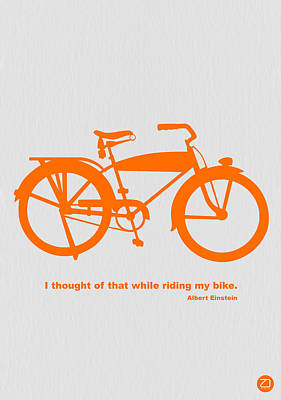 Bicycles Digital Art - I Thought Of That While Riding My Bike by Naxart Studio