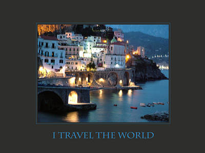 I Travel The World Amalfi Art Print by Donna Corless