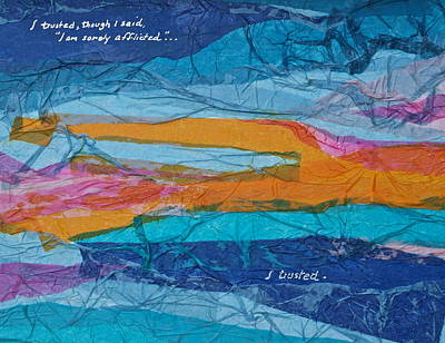Mixed Media - I Trusted - Psalm 116-10 by Michele Myers