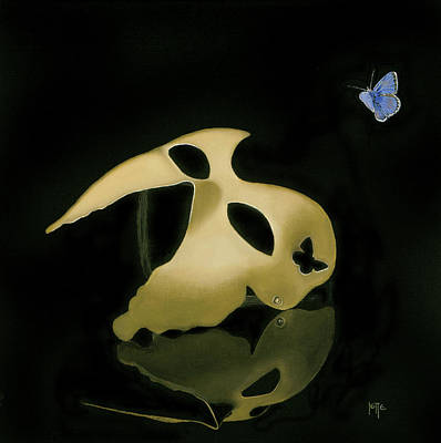 Painting - I Try To See Behind Your Mask, But You Are Not There by Jette Van der Lende