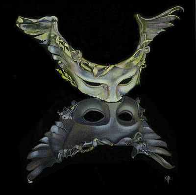Painting - I Try To See Behind Your Mask, But You Are Too Fast by Jette Van der Lende