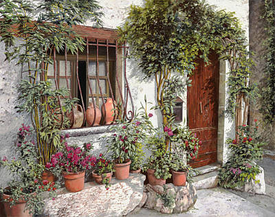 Royalty-Free and Rights-Managed Images - Dietro La Grata I Vasi by Guido Borelli